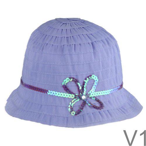 Flitteres kislány kalap