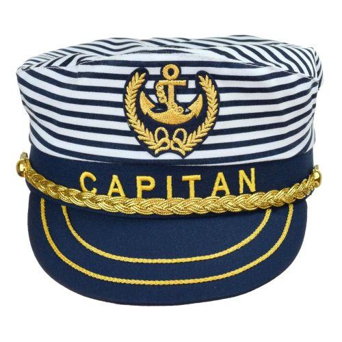 Kapitány sapka csíkos állítható