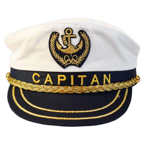 Kapitány sapka fehér állítható