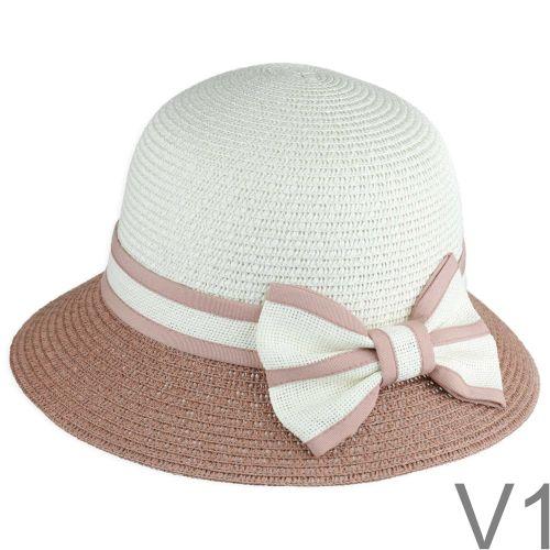 Egy nagyszerű, izléses nyári kalap, hátul diszkrét masnival.