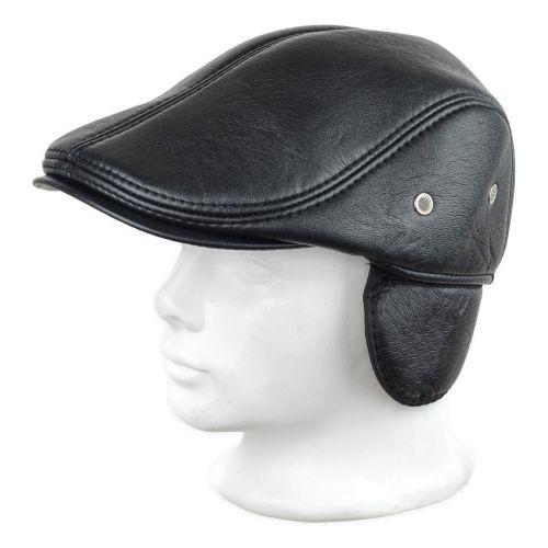 Műbőr fülvédős golf sapka