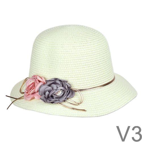Letisztult, elegáns, egyszerű nyári kalap.